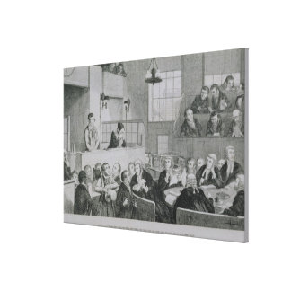 The Trial at the Old Bailey, plate 5 of 'The Drunk Canvas Print