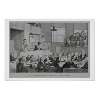 The Trial at the Old Bailey, plate 5 of 'The Drunk Poster