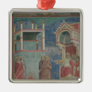 The Trial by Fire Silver-Colored Square Decoration
