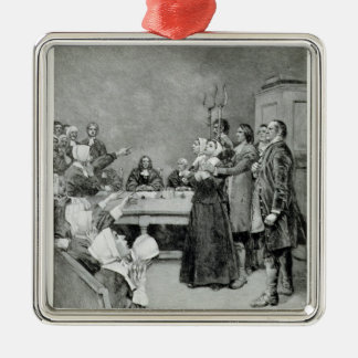 The Trial of a Witch Christmas Ornament