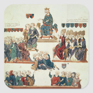 The Trial of Robert d'Artois , Count of Square Sticker