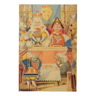 The Trial of the Knave of Hearts Wood Wall Decor