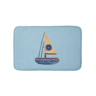 The Tribal Sailboat Bath Mat