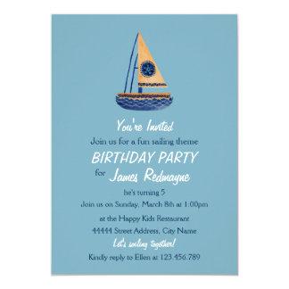 The Tribal Sailboat Kids Birthday Invitation