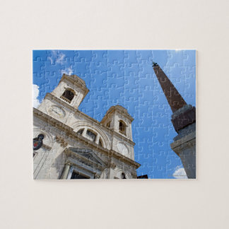 The Trinita dei Monti church in Rome, Italy is Jigsaw Puzzle