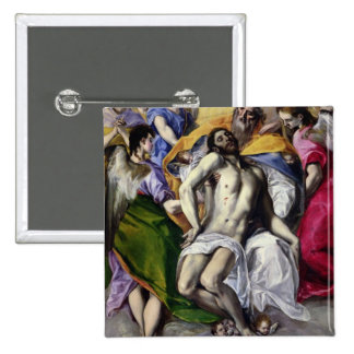 The Trinity, 1577-79 (oil on canvas) 15 Cm Square Badge
