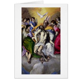 The Trinity, 1577-79 (oil on canvas) Greeting Card