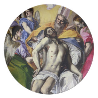 The Trinity, 1577-79 (oil on canvas) Party Plate