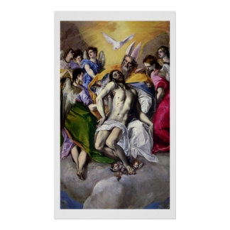The Trinity, 1577-79 (oil on canvas) Poster