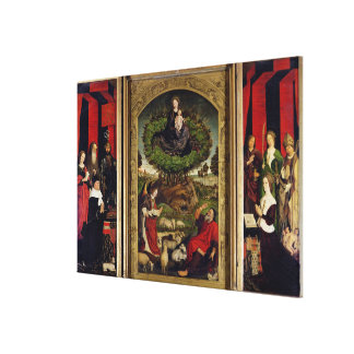 The Triptych of Moses and the Burning Bush Canvas Print