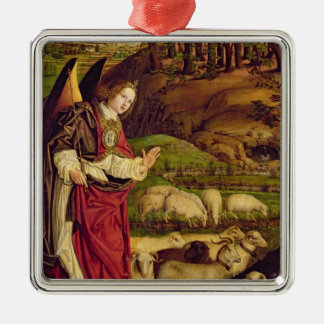 The Triptych of Moses and the Burning Bush Silver-Colored Square Decoration