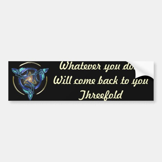 The Triquetra Bumper Sticker