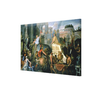 The Triumph of Alexander, or the Entrance of Alexa Canvas Print