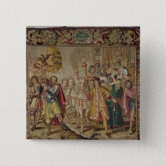 The Triumph of Charles V 15 Cm Square Badge