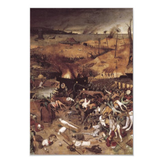 The Triumph of Death by Peter Bruegel 9 Cm X 13 Cm Invitation Card