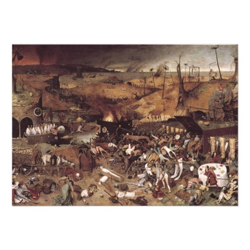 The Triumph of Death by Peter Bruegel Custom Announcements