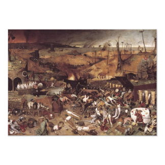 The Triumph of Death by Peter Bruegel 13 Cm X 18 Cm Invitation Card