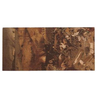 The Triumph of Death by Peter Bruegel Wood USB 2.0 Flash Drive