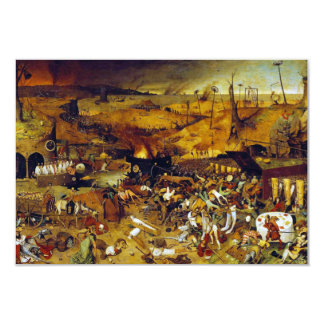 The Triumph of Death by Pieter Bruegel the Elder 9 Cm X 13 Cm Invitation Card