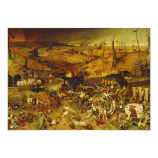 "The Triumph of Death by Pieter Bruegel the Elder 5"" X 7"" Invitation Card"