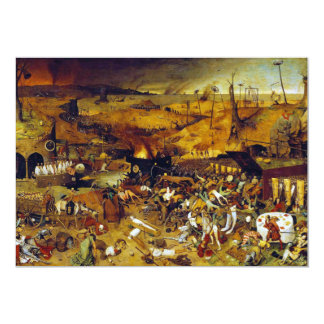 The Triumph of Death by Pieter Bruegel the Elder 13 Cm X 18 Cm Invitation Card