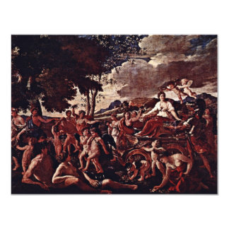 "The Triumph Of Flora,  By Poussin Nicolas 4.25"" X 5.5"" Invitation Card"