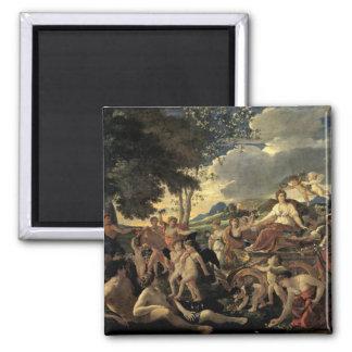 The Triumph of Flora, c.1627-28 Square Magnet
