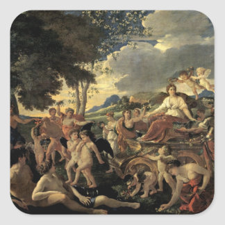 The Triumph of Flora, c.1627-28 Square Sticker