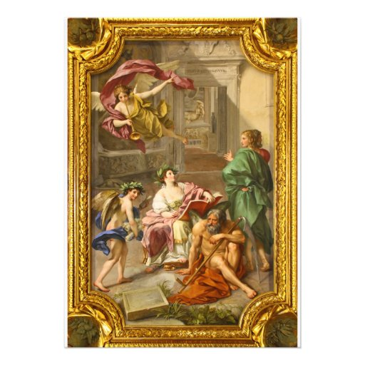The Triumph of History over Time by Anton R Mengs Custom Invites