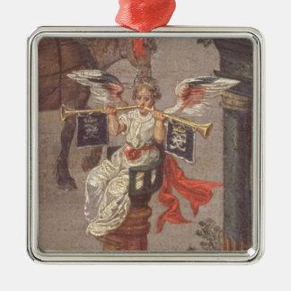 The Triumph of Isabella Silver-Colored Square Decoration