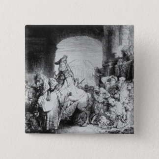 The Triumph of Mordecai, c.1640 15 Cm Square Badge
