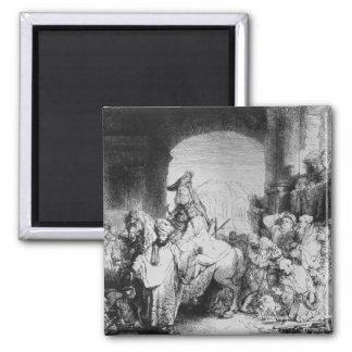 The Triumph of Mordecai, c.1640 Square Magnet