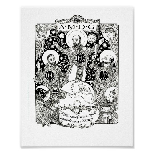 The Triumph of the Jesuit Order Poster