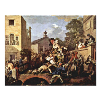 The Triumph Of The Members' By Hogarth William 11 Cm X 14 Cm Invitation Card