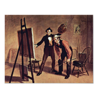 The Triumph Of The Painter By Mount William Sidney 11 Cm X 14 Cm Invitation Card