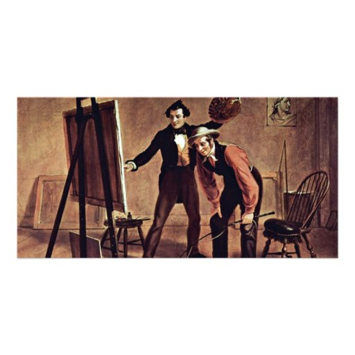 The Triumph Of The Painter By Mount William Sidney Picture Card