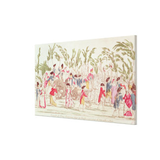 The Triumphant Parisian Army Returning Canvas Print