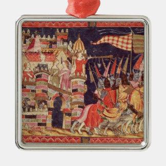 The Trojans Leaving for Battle Christmas Ornament