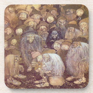 The Trolls and the Youngest Tomte Beverage Coasters