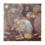 The Trolls and the Youngest Tomte Small Square Tile