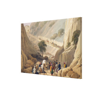 The Troops Emerging from the Narrow Part of the De Canvas Print