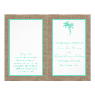 The Tropical Palm Tree Beach Wedding Collection 21.5 Cm X 28 Cm Flyer