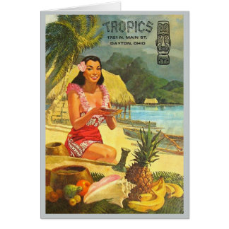 The Tropics classic Tiki menu Card