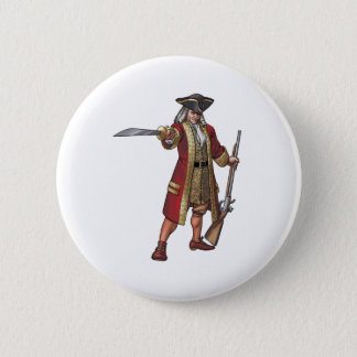 THE TRUE BUCCANEER 6 CM ROUND BADGE