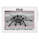 The True Meaning of Fear Greeting Card
