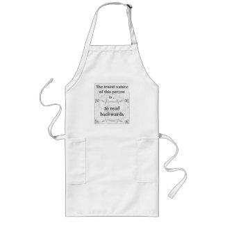 The truest nature: read backwards reverse long apron