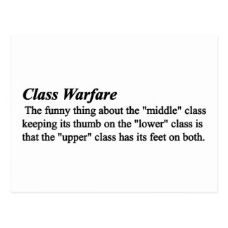 The truth about class warfare postcard