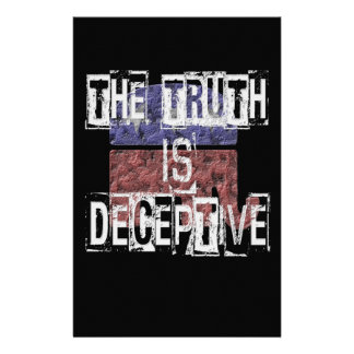 The Truth is Deceptive 1 Customized Stationery