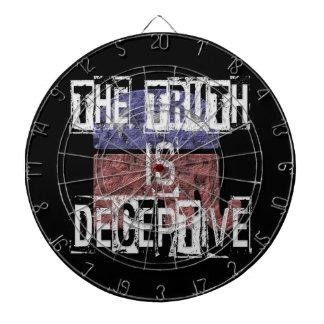 The Truth is Deceptive 1 Dartboard