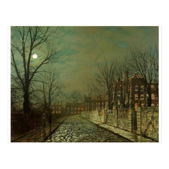 The Trysting Tree by John Atkinson Grimshaw Postcard